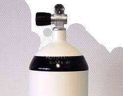 Stahl Flasche 12l kurz